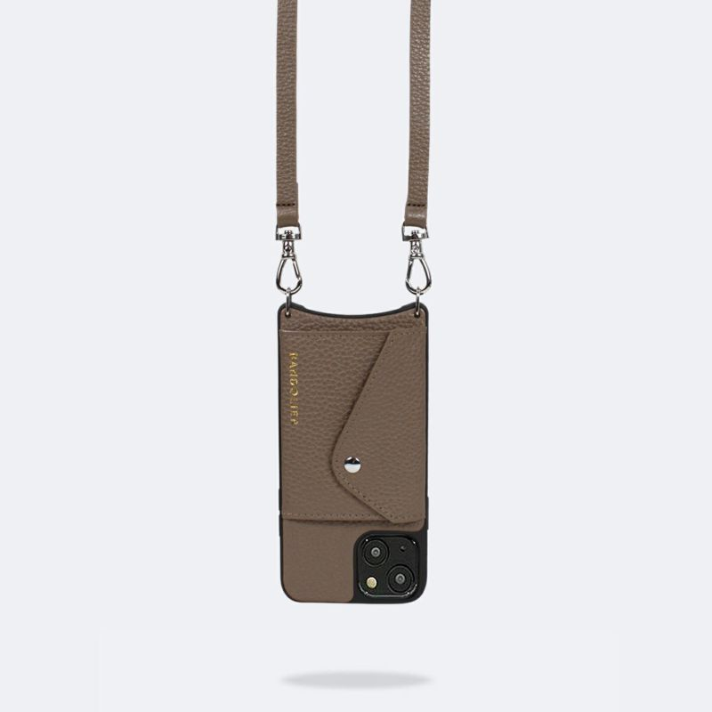 【日本限定】【iPhone 13 mini】DONNA SIDE SLOT DARK TAUPE ドナ サイドスロット ダークトープ